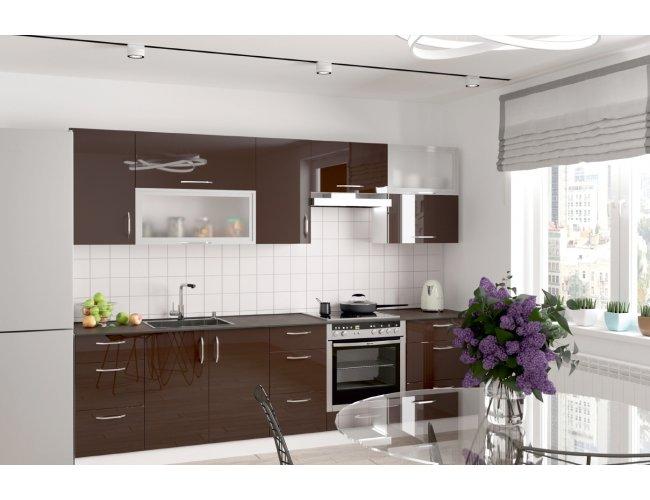 Кухня Феникс Сансет шоколад глянец