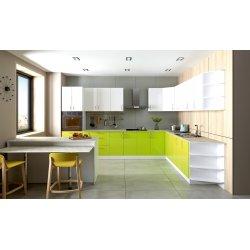 Кухня Феникс Сансет лайм глянец/белый глянец
