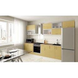 Кухня Феникс Сансет золотой глянец металик