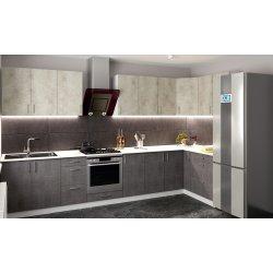 Кухня Феникс Саванна бетон темный/бетон серый