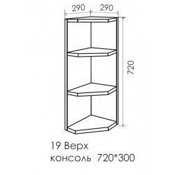 Кухня Феникс Макси № 19 Верх консоль 290*720