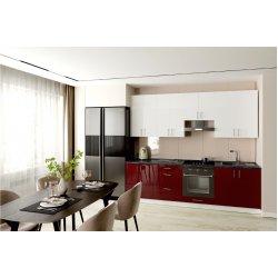 Кухня Феникс Стелла luxe burdeus/luxe blanco