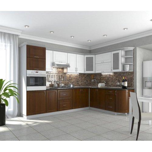 Кухня Гарант Квадрис мдф белое дерево/кедр люкс