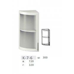КС дсп К7-6 Кут з гнутою дверкою вітрина 320
