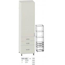 КС дсп КН-40 Шафа 1-но дверна + 3 шухл. (В - 2320мм) 300