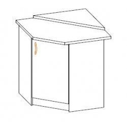 Кухонный модуль Угол низ 1Дв Алина ДСП