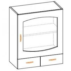 Кухонный модуль 60 верх витрина Паула МДФ