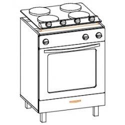 Кухонный модуль 60 низ духовка Паула МДФ
