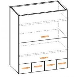 Кухонный модуль 60 низ ящики Паула МДФ