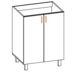 Кухонный модуль 60 низ мойка Паула МДФ