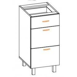 Кухонный модуль 40 низ ящики Паула МДФ