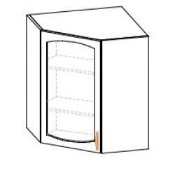 Кухонный модуль Угол верх витрина Паула МДФ