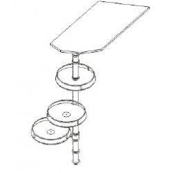 Кухонный модуль Барная стойка Верх Паула МДФ