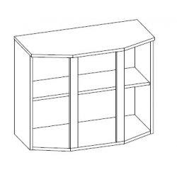 Кухонный модуль 80 верх витрина Алина ДСП