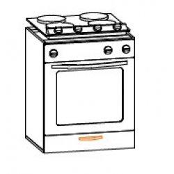 Кухонный модуль 60 низ духовка Кармен МДФ