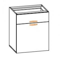 Кухонный модуль 60 низ 1Д Кармен МДФ
