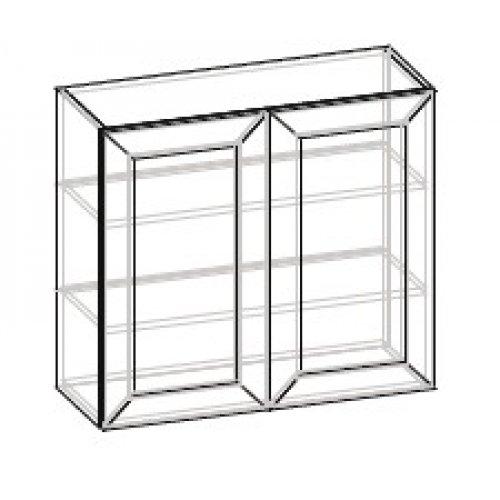 Кухонный модуль 80 верх витрина Роял ДСП