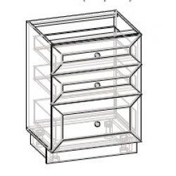 Кухонный модуль 60 низ ящики Роял ДСП