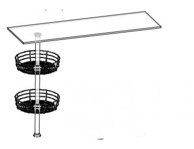 Кухонный модуль Барная стойка Верх Роял ДСП