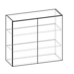 Кухонный модуль 80 верх витрина Франческа МДФ