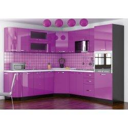 Кухня Гамма мдф фиолетовый