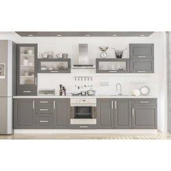 Кухня Гамма матовая серый