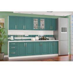 Кухня Гамма матовая зеленый