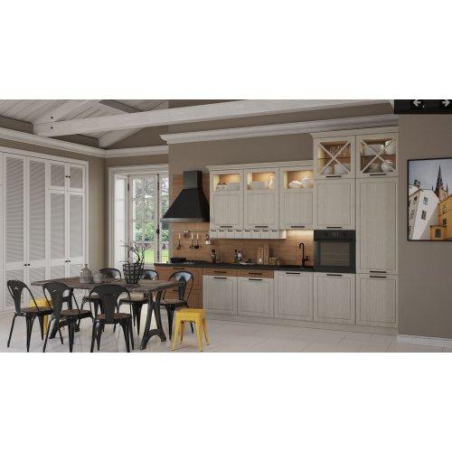 Кухня МДФ Egger текстура серый/коричневый