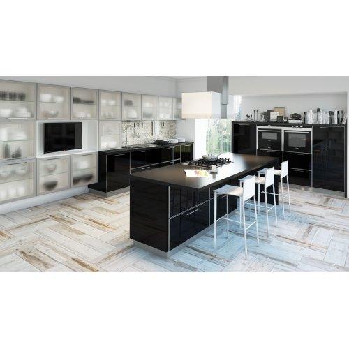 Кухня акрил Niemann глянец черный/серый