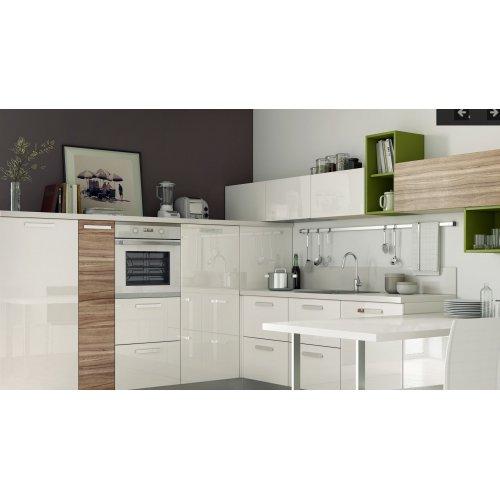 Кухня МДФ AGT белый глянец/дуб сонома