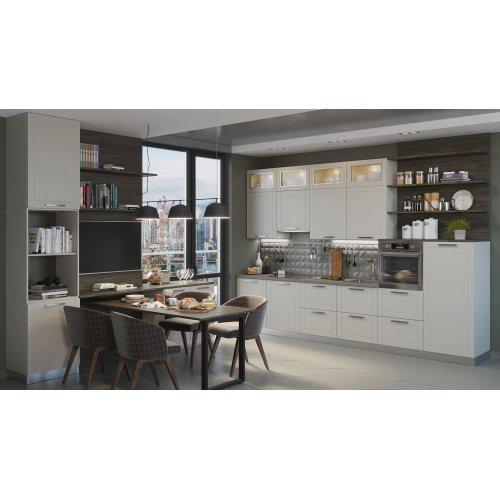 Кухня МДФ AGT текстура светло-серый