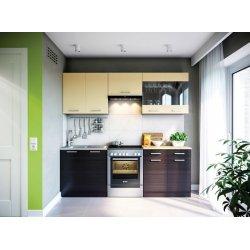 Кухня Свит Меблив Марта дсп венге темный/светлый прямой