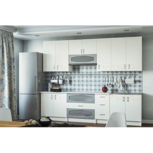 Кухня Свит Меблив Импульс мдф алюминий/белый