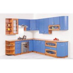 Кухня Свит Меблив Импульс мдф небесно-голубой/ольха