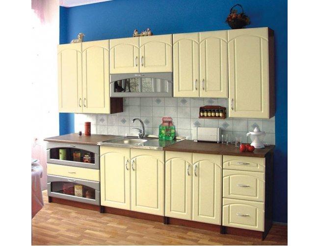 Кухня Свит Меблив Лира мдф алюминий/ваниль прямой
