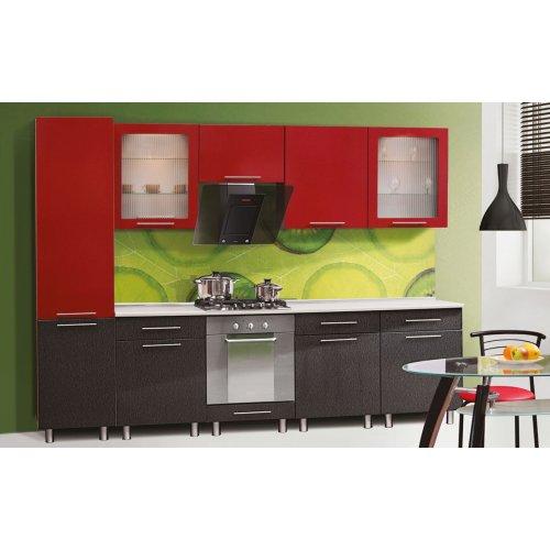 Кухня Свит Меблив Адель мдф штрих черный/красный