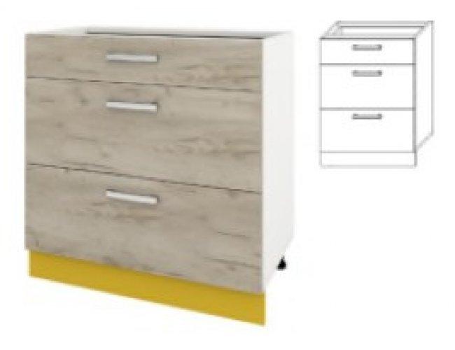 Модуль для кухни Шарлотта 80 верх витрина сушка