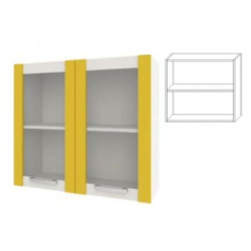 Модуль для кухни Шарлотта 80 верх витрина