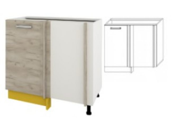 Модуль для кухни Шарлотта 100х60 угол низ
