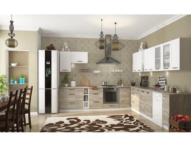Кухня Шарлотта ДСП крафт серый/белый