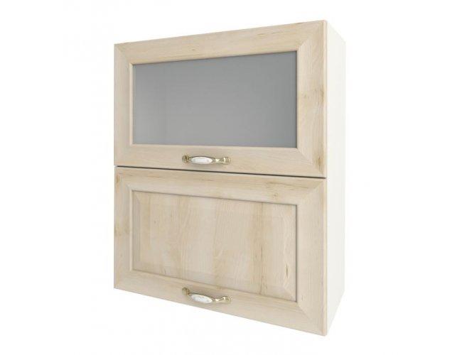 Кухонный модуль Сокме София Престиж глянец 60 верх витрина М 600*718*305