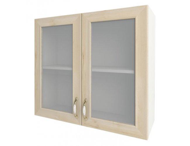 Кухонный модуль Сокме София Престиж глянец 80 верх витрина 800*718*305