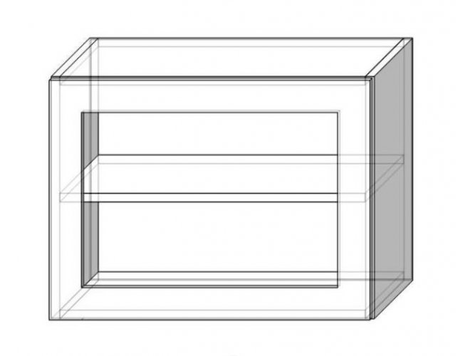 Кухонный модуль Сокме София Престиж супермат 60 верх витрина 450 600*450*305