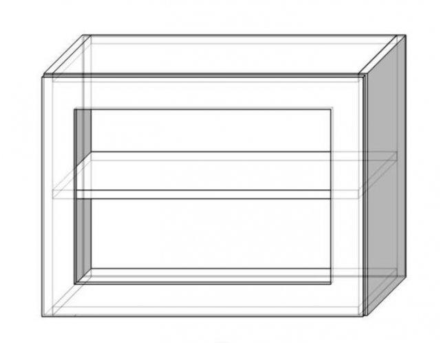 Кухонный модуль Сокме София Престиж глянец 80 верх витрина 450 800*450*305