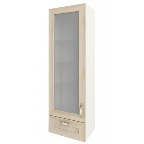 Кухонный модуль Сокме София Престиж глянец 40 верх витрина пенал 400*1275*305