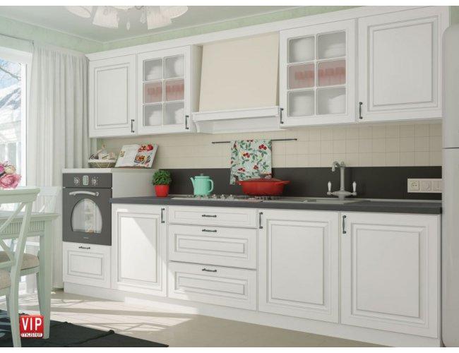 Кухня Vip Master Amore Classic мдф белый прямой