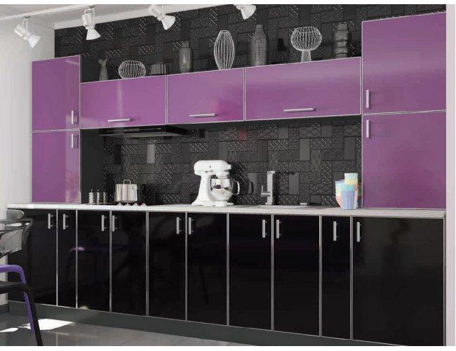 Кухня Vip Master Mirror Gloss дсп виола/блэк