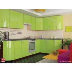 Кухня Vip Master Color-mix мдф оливковый угловой