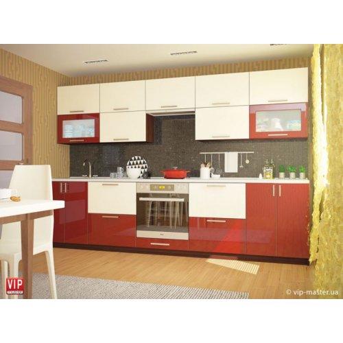 Кухня Vip Master Color-mix мдф красный/ванильный