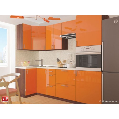 Кухня Vip Master Color-mix мдф оранжевый